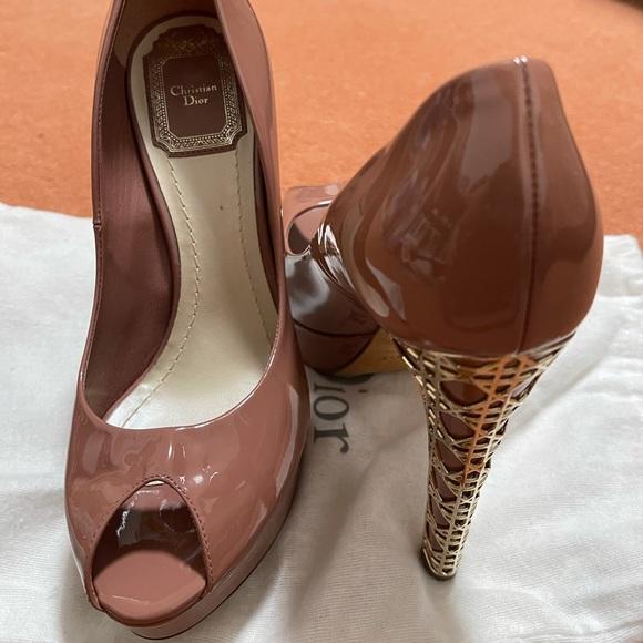 Dior monogram high heels